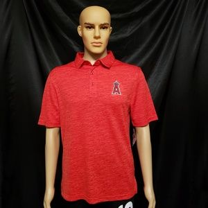 Majestic Mens Los Angeles Angels Polo Shirt